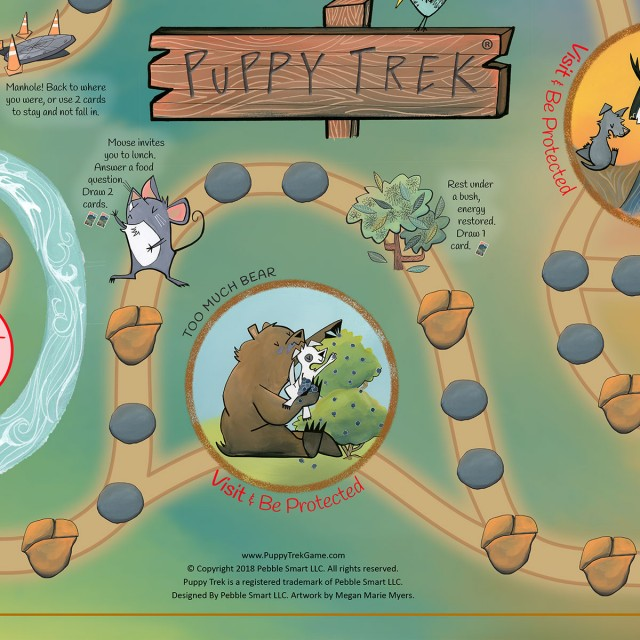The Puppy Trek Game – A board game for children age 5 and up